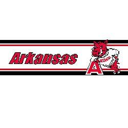 Univ. of Arkansas Razorbacks   Wallpaper Border Home