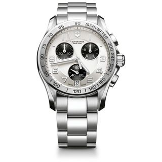 Swiss Army Mens Chrono Classic Silver Dial Watch