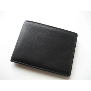 Joseph Daniel Black Leather Bi fold Wallet