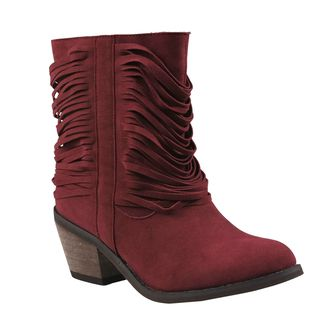 Refresh Womens Makay Fringe Western Boots