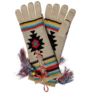 Muk Luks Womens Painted Desert Lace up Gloves