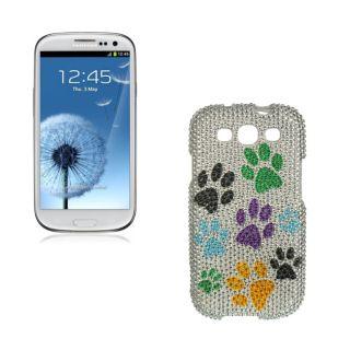 Premium Samsung Galaxy S III/S3 Dog Paws Rhinestone Case