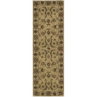 Hand tufted Caspian Gold Wool Rug (23 x 76)