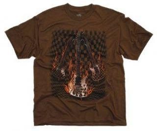 Ink Inc Checkered Guitars Graphic T Shirt Clothing