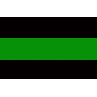 Thin Green Line Reflective Decal   Correctional / Police