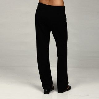 Central Park Womens Black Bootcut Leg Yoga Pants