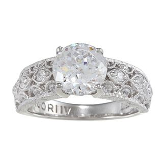 Tacori IV Cubic Zirconia Epiphany Round cut Solitaire Ring