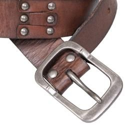 Journee Collection Womens Studded Casual Leather Belt