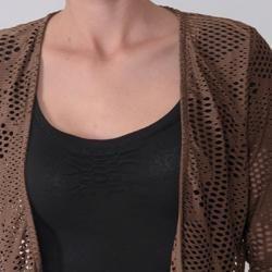 Max by Adi Designs Womens Laser cut Cropped Bolero