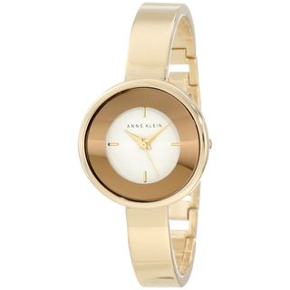 Anne Klein Womens AK 1082WTGB Goldtone Quartz Watch