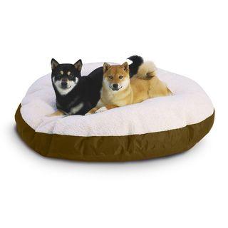 Hidden Valley Medium Tan Round Ultra Sherpa Dog Bed