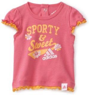 adidas Baby Girls Infant Superstar Tee, Bright Pink, 3