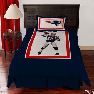 New England Patriots Tom Brady 4 piece Comforter Set