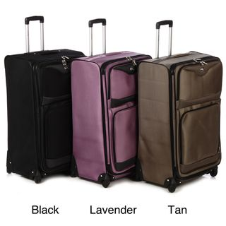 Oleg Cassini 3 piece Expandable Spinner Luggage Set