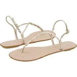 Nine West Ginny Light Gold Leather Sandals
