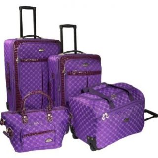 American Flyer Signature 4 Piece Expandable Luggage Set