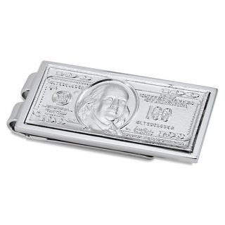 Stainless Steel Polished 100 Dollar Bill Money Clip