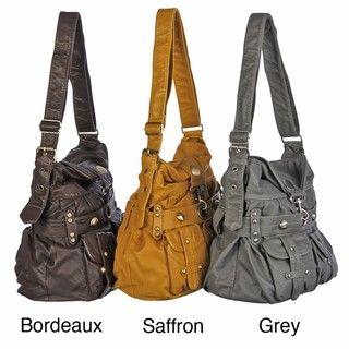 Del Cesca Washed Saddle Handbag