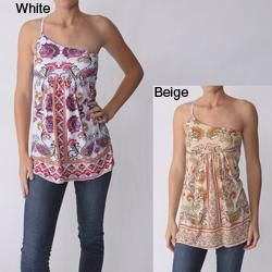 Energie Brand Juniors Empire Waist One Shoulder Top