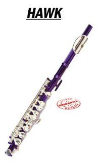 Hawk Purple Colored Student Piccolo, WD FP122 PL Musical