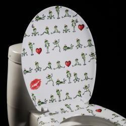 Dancing Frogs Designer Melamine Toilet Seat Cover