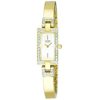 Citizen Womens Eco Drive Silhouette Goldtone Bangle Watch
