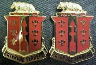 121st Field Artillery Distinctive Unit Insignia   Pair