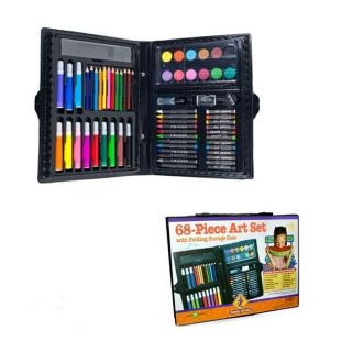 68 Piece Art Set With Oil Pastels, Watercolor Paints, Storage Case