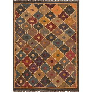 Handmade Flat Weave Tribal Multicolor Jute Rug (2 x 3) Today $31.99