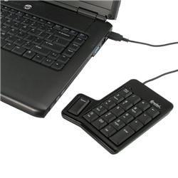 Belkin USB Retractable Black Travel Mouse/ SYBA USB Numeric Keypad
