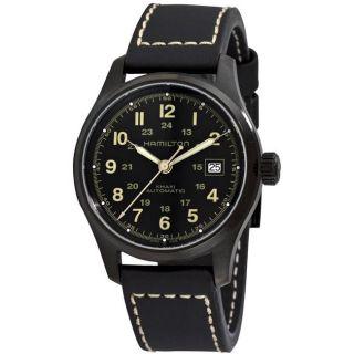 Hamilton Mens Khaki Field Black Strap Automatic Watch