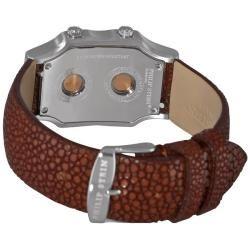 Philip Stein Womens Signature Brown Strap Watch