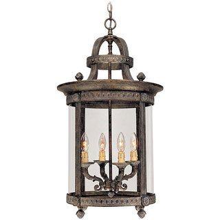 World Imports Chatham Collection 4 light Hanging Interior Lantern