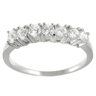 Tressa Collection Sterling Silver Round cut CZ Bridal style Ring