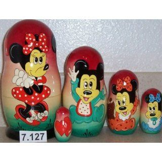 Mickey Mouse Micky Doll. 5 Pieces / 7 in Tall #7.127