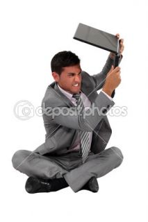businessman about to smash his laptop.  Foto Stock © photography33
