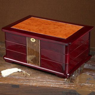 Christopher Knight Home Large Cherry Swing out Compartment Jewelry Box