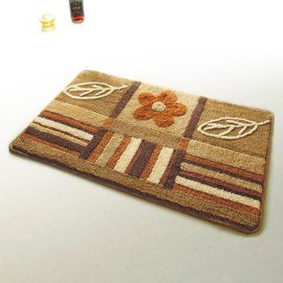 Naomi   [Garden] Wool Throw Rugs (17.7 by 25.6 inches