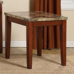 Creston Faux Marble Top Coffee, End and Sofa Table (Set of 3