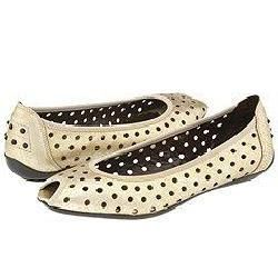 Donald J Pliner Grisel Platino Antique Metallic Flats