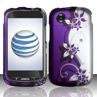 Purple Silver Vine Faceplate Hard Shell Cover Phone Case