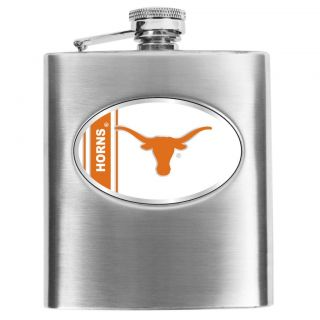 Simran Texas Longhorns 8 oz Stainless Steel Hip Flask