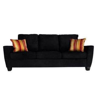 Dexter Modern Black Microfiber Sofa