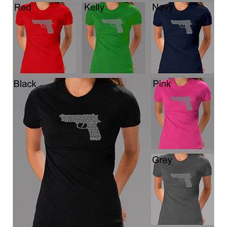 Los Angeles Pop Art Womens 2nd Amendment Gun Shirt