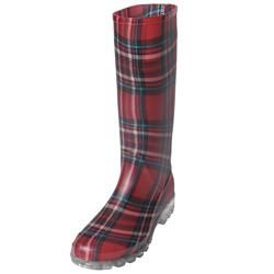 Adi Designs Womens Plaid Rain Boots