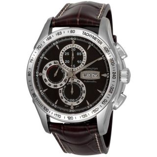 Hamilton Mens Lord Hamilton Brown Strap Chronograph Watch