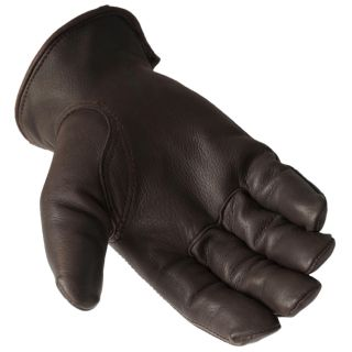 Daxx Mens Top Grain Deerskin Leather Bird Dog Print Lined Gloves
