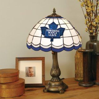Toronto Maple Leafs NHL Stained Glass Table Lamp Sports