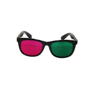 Plastic Magenta/ Green 3D Movie Anaglyph DVD Glasses