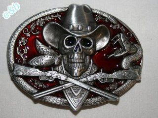 Brande&b Western Ghost Skeleton Cowboy Skull Guns Belt